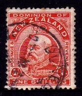 New Zealand 1909 King Edward VII 1s Vermilion Used  SG 394 - 1907-1947 Dominion