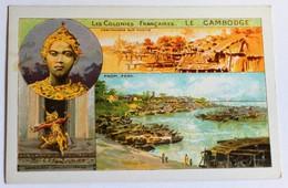 Chromo Bon Point école Le Cambodge Série Les Colonies Françaises Phnom Penh Danseuse - Other
