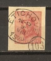 Belgique 9/VIII/1920 - Fragment D'Entier Postal - Cob 168 - Roi Casqué - Cachet Etichove + Cachet Facteur 103 - Autres