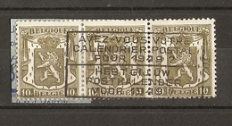 """Belgique 1948 - Flamme """"Avez-vous Votre Calendrier Postal Pour 1949?"""" - 3 X Cob 420 Se Tenant - Marcophilie"""