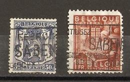 """Belgique  - Flamme """"Utilisez SABENA"""" - """"Gebruik Sabena """" - Cob 426/762 - Lignes Aériennes Belges - Marcophilie"""