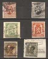 Belgique  - Petit Lot De 5 Timbres Et Un Fragment D'Entier Postal  Surchargés Poste Aérienne - Luchtpost - Marcophilie