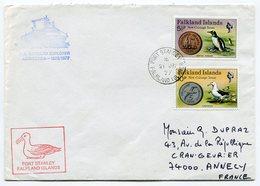RC A10071 FALKLAND 1977 M.S. LINDBLAD EXPLORER ANTACTIQUE LETTRE DE PORT STANLEY TB - Falkland Islands