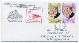 RC A10072 FALKLAND 1974 M.S. LINDBLAD EXPLORER ANTACTIQUE LETTRE DE PORT STANLEY TB - Falkland Islands