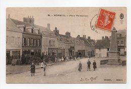 - CPA MOREUIL (80) - Place Parmentier 1916 (avec Personnages) - Photo HOUDART N° 24 - - Moreuil
