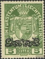 Liechtenstein 11 Mit Falz 1920 Aufdruckausgabe - Liechtenstein