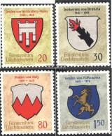 Liechtenstein 440-443 (complete.issue.) Unmounted Mint / Never Hinged 1964 Crest - Liechtenstein