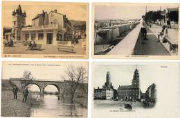 Lot 10 CPA & CPSM France  / Valenciennes, Avord, Le Vigan, Calais, Montreux-Château ... / A Voir !!! - Cartes Postales