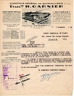 QUINCAILLERIE  Ets GARNIER COMMERCY (meuse)1949 - France