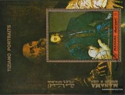 Manama Block200A (complete Issue) Fine Used / Cancelled 1972 Porträtgemälde Of Tizian - Manama
