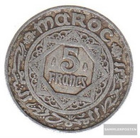 Morocco Km-number. : 48 1370 Extremely Fine Aluminum Extremely Fine 1370 5 Francs Star - Morocco