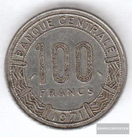 Cameroon Km-number. : 15 1971 Very Fine Nickel 1971 100 Francs Antelope - Cameroon