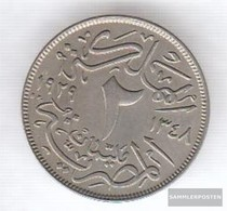 Egypt Km-number. : 345 1929 Stgl./unzirkuliert Copper-Nickel Stgl./unzirkuliert 1929 2 Milliemes Fuad I. - Aegypten