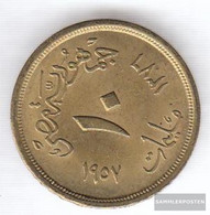 Egypt Km-number. : 381 1957 Extremely Fine Aluminum-Bronze Extremely Fine 1957 10 Milliemes Sphinx - Egypt
