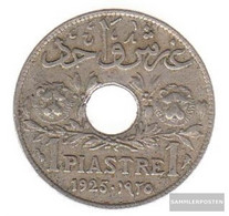 Lebanon Km-number. : 3 1925 Very Fine Copper-Nickel Very Fine 1925 1 Piaster With Hole - Lebanon