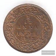 India Km-number. : 509 1916 Very Fine Bronze Very Fine 1916 1/12 Anna George V. - India