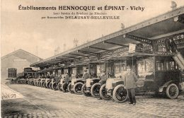 "S458 - Cpa 03 Vichy -   Etablissements Hennocque Et Epinat "" Autobus"" - Vichy"