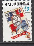 2001 Dominican Republic Stamp Day  Complete Set Of 1 MNH - Dominicaine (République)