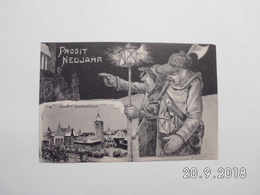 Zürich. - Landesmuseun. Prosit Neujahr.(31 - 12 - 1905) - ZH Zurich