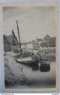 Carte Photo Unique Quimperle Depart Bateau Pecheurs Thonier Reine De La Laita Vers 1935-1937 - Quimperlé