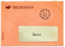 COTE D'OR - Dépt N° 21 = BRAZEY En PLAINE 1979 = CACHET MANUEL A9 + FRANCHISE - Marcophilie (Lettres)