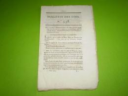 Lois 1822:Exercice Profession De Boulanger à Bergues & Lons Le Saunier.Prix Des Poudres De Mine. Legs Rosoy, Nay..... - Décrets & Lois