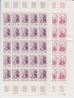Iceland 1979 Famous Persons 2v Complete Sheetlets (shtlts Are 2x Folded) ** Mnh (40677A) - Ungebraucht