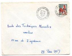 COTE D'OR - Dépt N° 21 = CHAILLY Sur ARMANCON 1967 = CACHET MANUEL A9 - Postmark Collection (Covers)