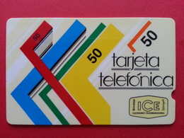 COSTA RICA - ICE GPT  50 ₡ First Issue No Control Number  1988 COR -1 Used ?  (BA0417) - Costa Rica