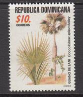 2002 Dominican Republic Tree Plant Complete Set Of 1 MNH - Repubblica Domenicana