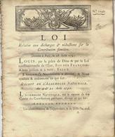 L'IMPOT TOUJOURS L'IMPOT ET LE POIDS DE L ADMINISTRATION   1791 REVOLUTION IMPOTS LOI CONTRIBUTION FONCIERE VOIR SCANS - Décrets & Lois