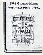 Catalogue OVERLAND MODELS 1994 HO Detail Parts Catalog - Books And Magazines
