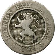 Monnaie, Belgique, Leopold I, 10 Centimes, 1861, TB+, Copper-nickel, KM:22 - 1831-1865: Léopold I
