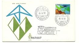 1972 - San Marino PA 150 Aereo Stilizzato - FDC - Aerei