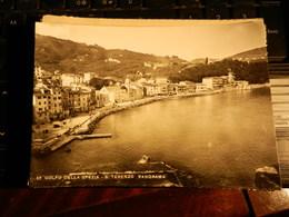 18893) GOLFO LA SPEZIA S. TERENZO PANORAMA VIAGGIATA 1954 - La Spezia