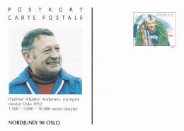 Norway Postal Stationary 1994 Hjalmar Andersen Gold Medal Oslo 1952 - Mint (DD23-20) - Winter 1952: Oslo