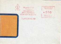 FRANCE -Turckeim , Papiers Fins Sur Fragment - France