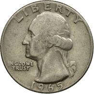 Monnaie, États-Unis, Quarter, 1965, Philadelphie, TB+, Copper-Nickel Clad - Federal Issues