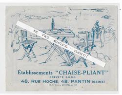 """93 - PANTIN  - Etablissement """"CHAISE PLIANT """" - Rue Hoche à Pantin - Publicité - Unclassified"""