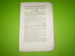 1824:loi Relative Aux Journaux & écrits Périodiques. Legs La Mancellière,Crest,Barbey,Gannat,Morgny,Roupeldange.... - Decrees & Laws