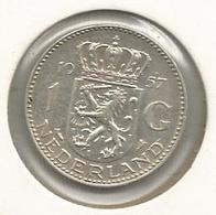 Monnaie, Pays Bas, NEDERLAND , 1957 , 1 Gulden ,Juliana Koningin Der Nederlanden - [ 3] 1815-… : Royaume Des Pays-Bas