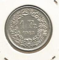 Monnaie, Suisse , Helvetia , 1 Franc , 1943 B , 2 Scans, Argent - Suisse