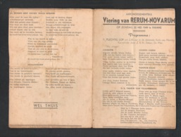ARRONDISSEMENTELE VIERING VAN RERUM-NOVARUM - HAMME 22 MEI 1949 - PROGRAMMA  (OD 491) - Programs