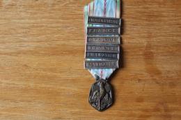 Medaille 1939 1945  6 Barrettes De Rappel  France, Afrique, Italie... - Frankreich