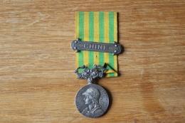 Medaille Chine 1900 1901  Complete Avec Sa Barrette - France