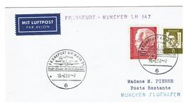 MIT LUFTPOST - FRANKFURT AM MAIN 75 - 10/2/68 - BRD