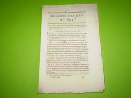 Lois 1824:Officiers De Santé De La Gendarmerie Royale &Sapeurs Pompiers De Paris.Nominations De Préfets,sous Préfets. - Decrees & Laws