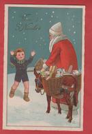 VIVE SAINT NICOLAS  AVEC  UN ENFANT  ET  DES JOUETS - Nikolaus