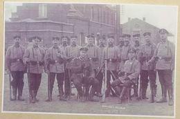 Octobre 1914  Soldats Allemands Devant La Gare De Braine-L'Alleud (Reproduction - Photo) - Eigenbrakel