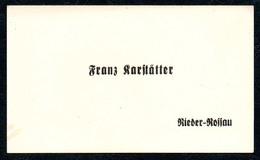 B7244 - Rieder Rossau - Franz Karstätter - Visitenkarte - Visitenkarten